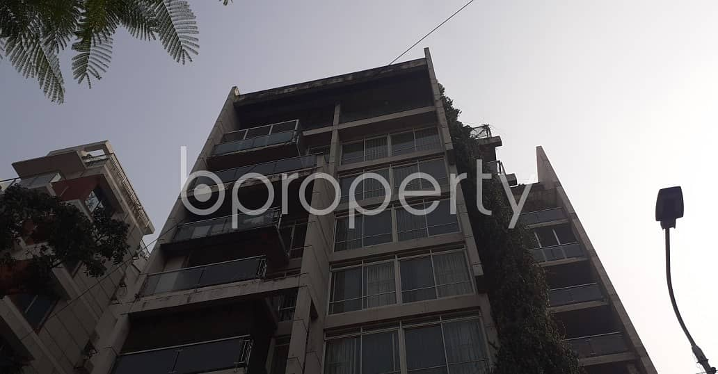 Properly Designed This 4050 Square Feet Apartment Is Now Up For Rent In Baridhara .