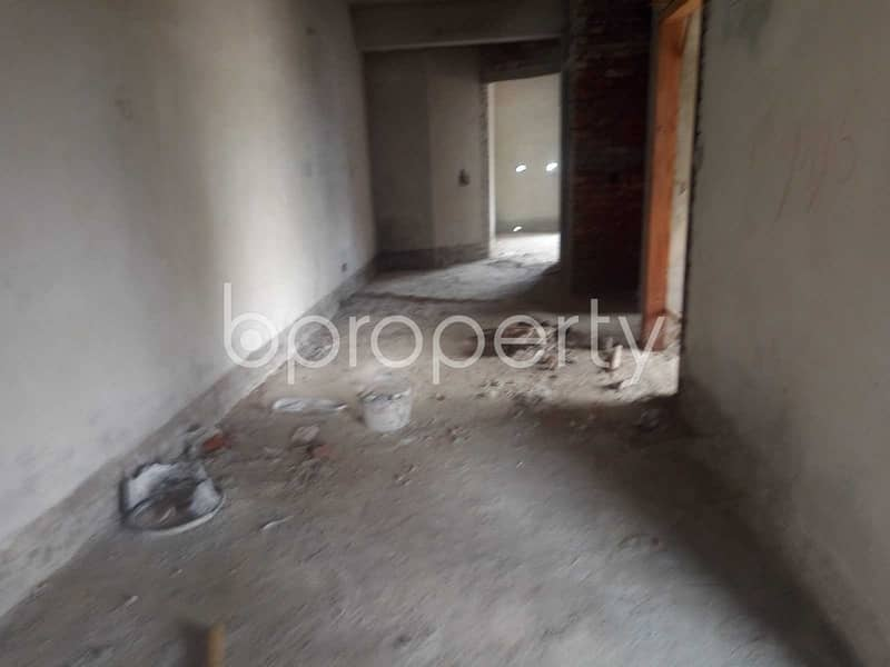 A Moderate 1100 Sq Ft Flat Is Available For Sale At Middle Badda