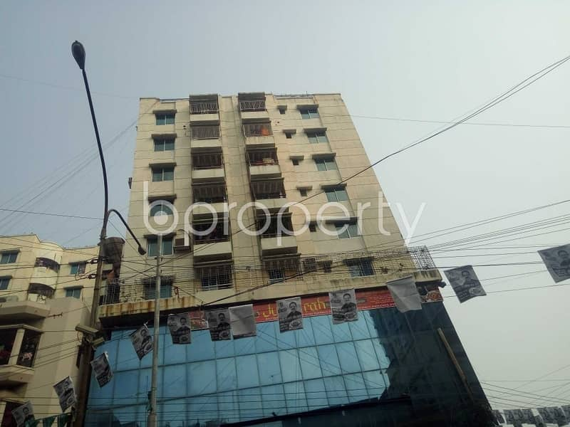 Great location! Check out this flat for rent in 16 No. Chawk Bazaar Ward which is 1350 sq ft