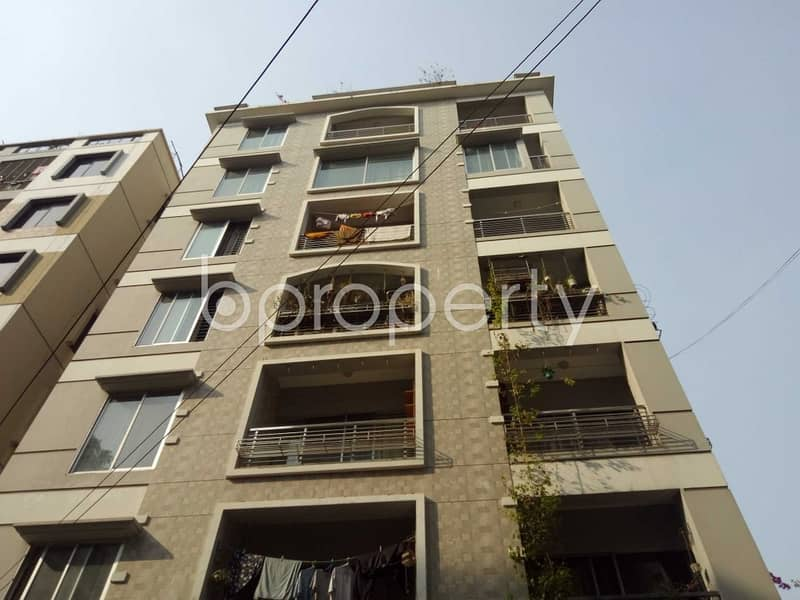 In this serene neighborhood of Mirpur DOHS, a flat is up for rent which is 1300 SQ FT
