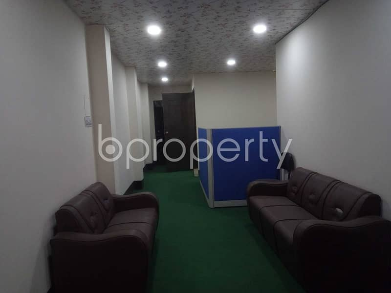 A 900 Sq Ft Commercial Office For Rent In New Airport Road, Banani