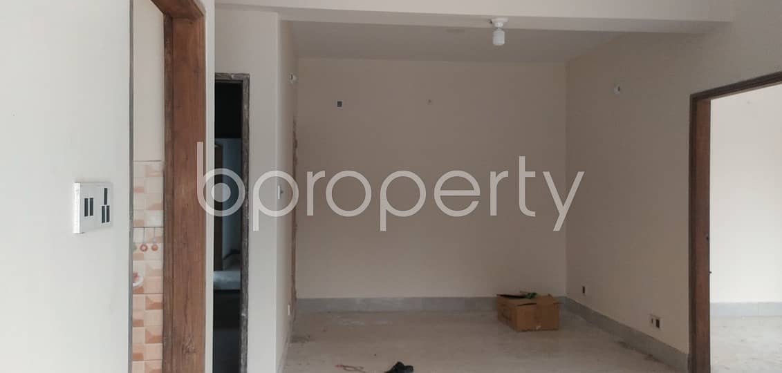 Available Residential Apartment Of 1160 Sq. Ft Near Badda Model School & College Is Up For Sale.