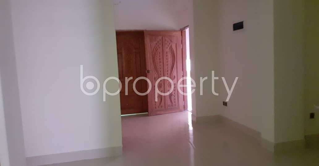 In This Serene Neighborhood Of Nikunja 2, A 2 Bedroom Decent Flat Is Up For Rent.