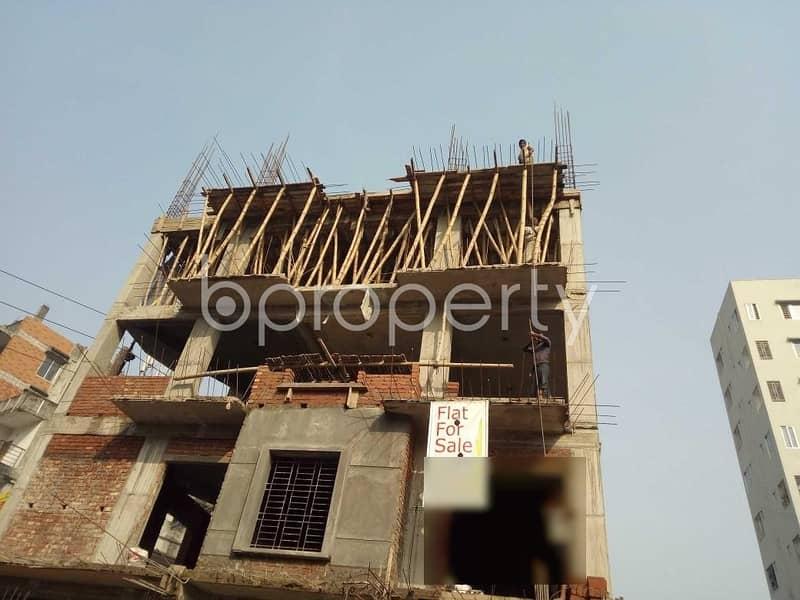 Get Comfortable In A Nice Flat For Sale In Bashundhara Nearby Independent University, Bangladesh