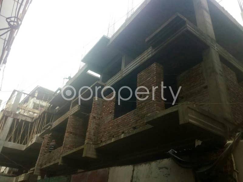 An Apartment Is Ready For Sale At West Rampura, Near Ulan Bazar Central Jame Mosque.