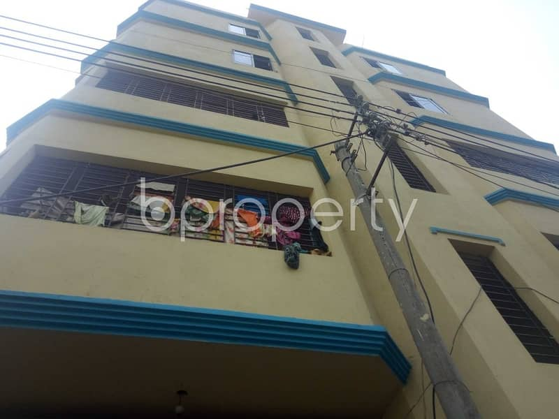 An Apartment Is Ready For Rent At Haji Mokbul Ahmed Housing Society, Near Mutual Trust Bank Limited.
