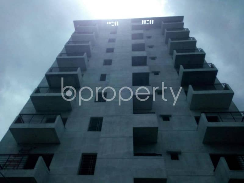 An Apartment Of 800 Sq. Ft Up For Sale Is Located At Dakshin Khan, Near To Goalteak Jame Mosque.