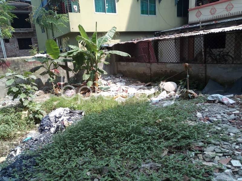 A Residential Plot Is Ready For Sale At Uttar Badda, Near Moinar Bagh Jame Masjid