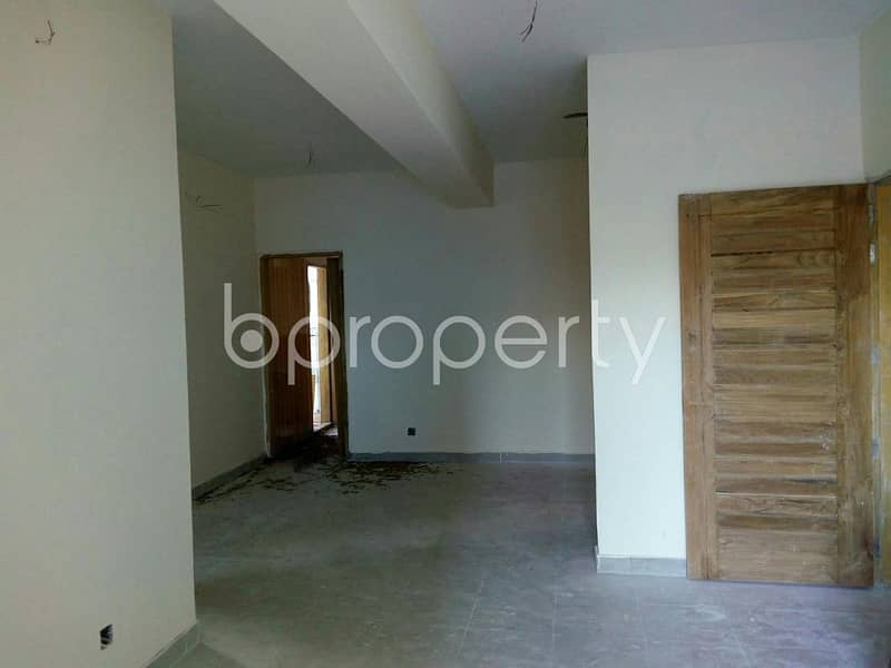 Positioned at Bakalia, a 1335 SQ FT residential flat is up for sale near to New Market