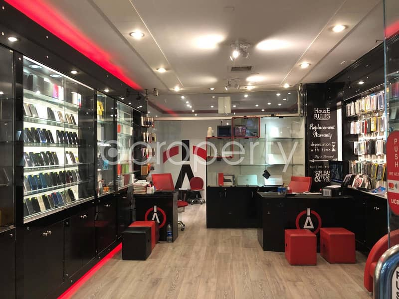 Near Eastern University 880 Sq. Ft. Perfect Commercial Shop Is For Sale In Dhanmondi
