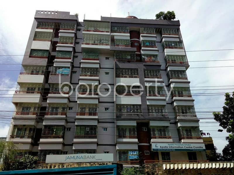 Introduce yourself to a 1200 SQ FT rental flat located at Thakur Para near to Cumilla Residential School
