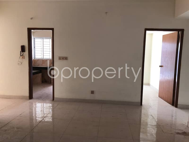 This 1555 SQ FT apartment for sale in Badda is available near Baitul Jannat Jame Masjeed