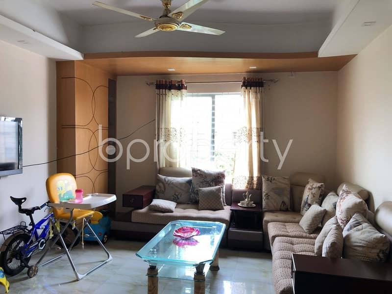 This Semi-Furnished Apartment Of 1272 Sq. Ft For Sale Is All Set For You To Settle In Lalbagh Close To Rahamatullah Model High School