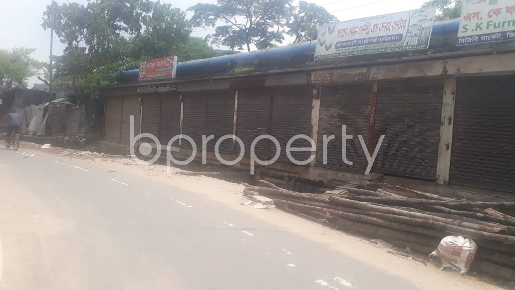 This 100 Square Feet Commercial Shop Ready For Rent At Halishahar Housing Estate