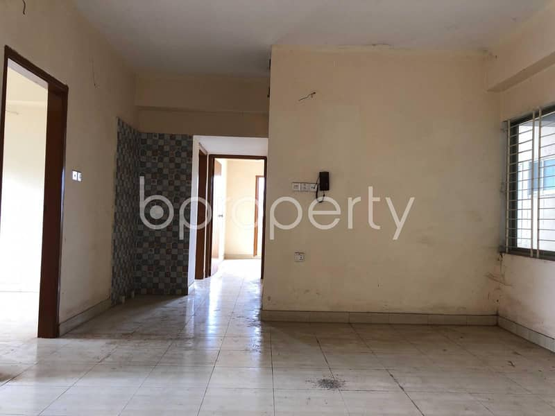 A Perfect Flat Of 1515 Sq Ft For Living With Family Is Available For Sale At Halishahar Housing Estate