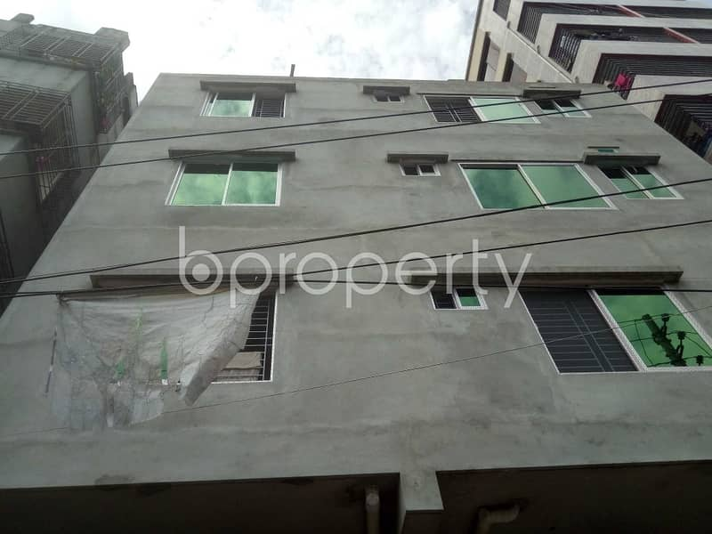 A 600 Sq Ft Flat Up For Rent In Jagannathpur, Badda Nearby Mercantile Bank.